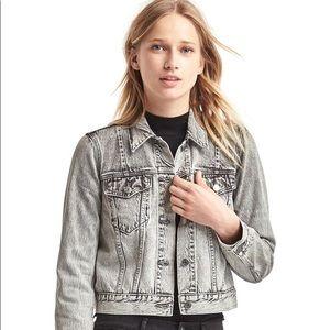 GAP Icon Denim Jacket Light Grey Wash XS
